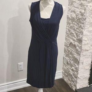 Esprit Navy Stretch Jersey wrap dress